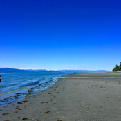 Stunning view from Qualicum Beach on Vancouver Island looking toward VANCOUVER.