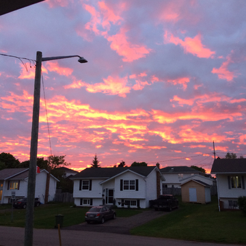 Beautiful Charlottetown sunset