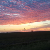 Beautiful sunset near St. Joseph Mb.