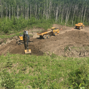 Moving some dirt in the Peace River Valley