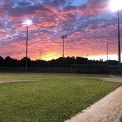 Sundown on the diamond