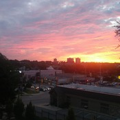 beautiful sunset in kitchener