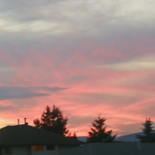 Sunset in Maple Ridge
