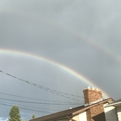 Rainbow after a mean storm