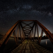 Night Bridge a Fisheye View