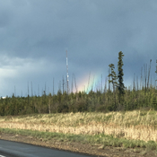 Unexpected rainbow on the way home.