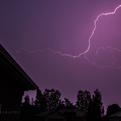 Lightning shot from my front door!!