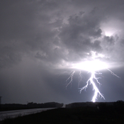 Nocturnal Lightning east of Red Deer