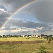 Beautiful rainbow after storm