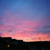 evening sky in barrie ontario