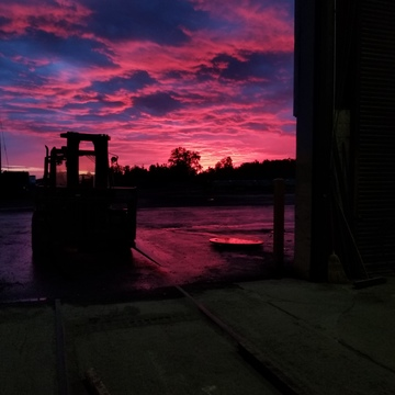 morning sunrise at work