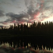 Sunset at Nipekamew Lake