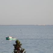 See Saint John NB across the Bay of Fundy this morning