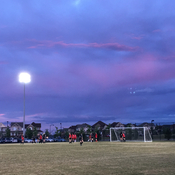 Soccer night in Milton, Ontario