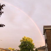 Late evening rainbow
