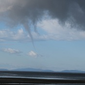 Water Spout off Davis Bay, Sunshine Coast, BC