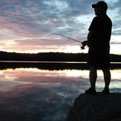 Massasauga Park - Fishing on Spider Lake