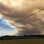Smoke from Lady Evelyn fires