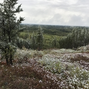 Fresh snow fall in September