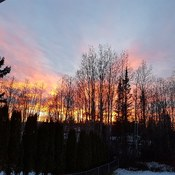 sunset in quesnel