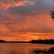 Sunset over Gogama