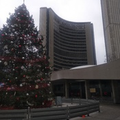 Toronto City Hall and Toronto Sign