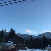 Procter view of Selkirk mountains.