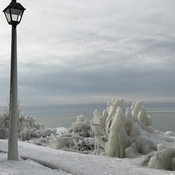 Goderich ice sculptures