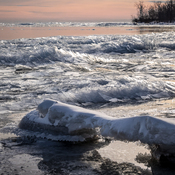 Ice Stacking on Lake Erie