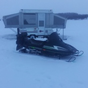 Winter camping on Chemong Lake.