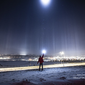 Light pillars of Cochrane