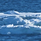Some Ice floating in the Bay of Chaleur,Quebec