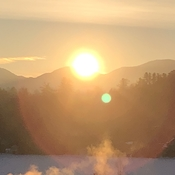 Sunrise Over the Sentinel Mountain Range In Lake Placid