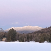 Beautiful Colours in the Sky after a Lake Placid Sunset