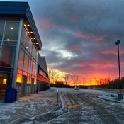 Sunrise over East Gwillimbury arena