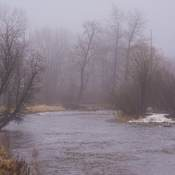 Moody misty picture of the bow river