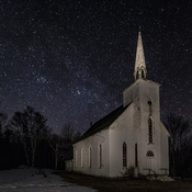 Victoria County Church At Night