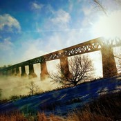 The train bridge last winter