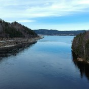 Looking down the humber river , Newfoundland, Canada