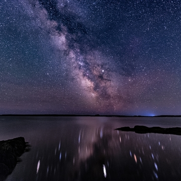 Milky Way Reflections Over LaHave Islands