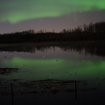 Northern Lights over water