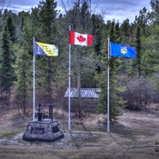 Yesterday a nice day to capture the flags blowing in the wind..
