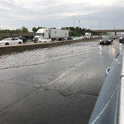 Flooding on Highway 401