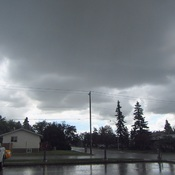 Rain clouds in Grande Prairie