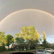 Arch rain bows Stavely Alberta