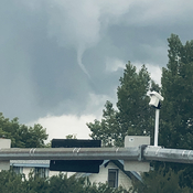 Funnel cloud in Grande Prairie
