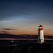 Noctilucent clouds at Peggys Cove