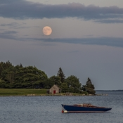 Moonrise Over Zwicker Island