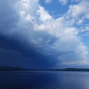 Storm moving over Aylen Lake