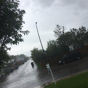 Rain is pouring in Calgary